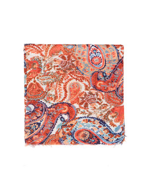 Printed scarf coral.