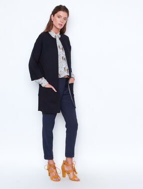 Long cardigan navy.