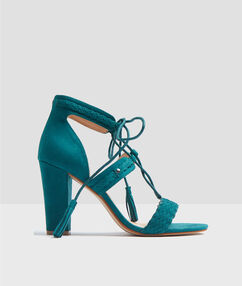 Heeled sandals emeraid.