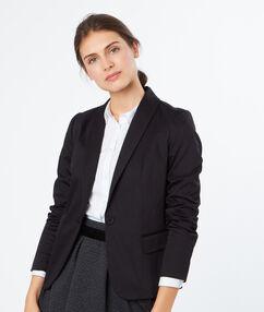 Cotton blazer black.