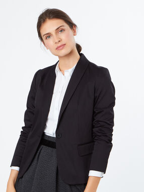 Cotton blazer black.
