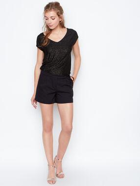 Short sleeves top black.
