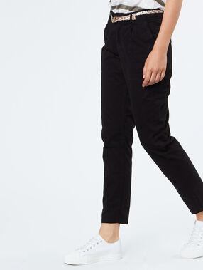 Cotton capri pants black.