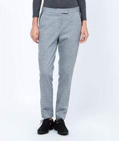 Pantalon à pince skinny bicolore noir.