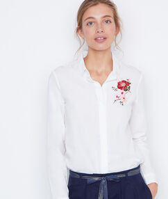 Embroidered shirt white.
