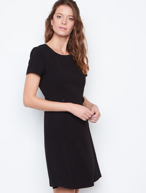 Structured dress black.