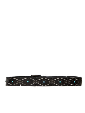Belt black.