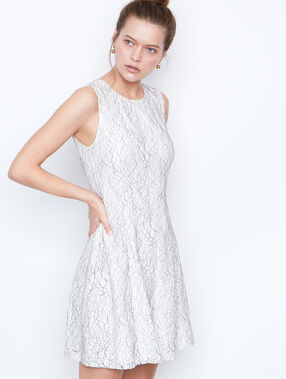 Lace dress white.