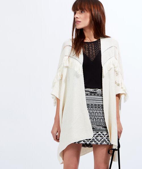 Kimono tricot à franges