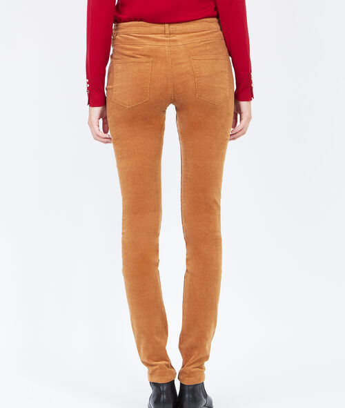 Corduroy slim pants