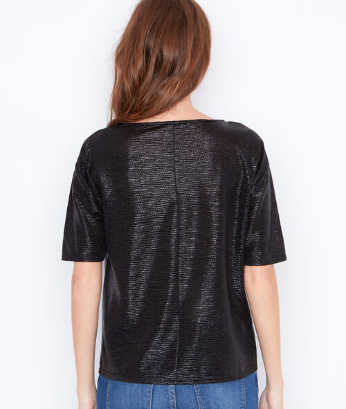 Metallic effect top