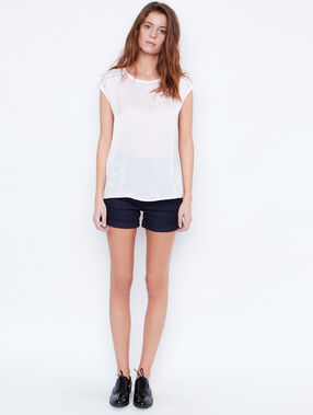 Satine top white.