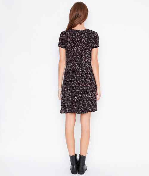 Printed dress with tipping