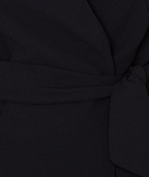 Blazer croisé avec ceinture à la taille