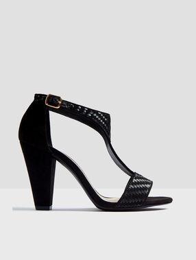 Heeled sandals black.