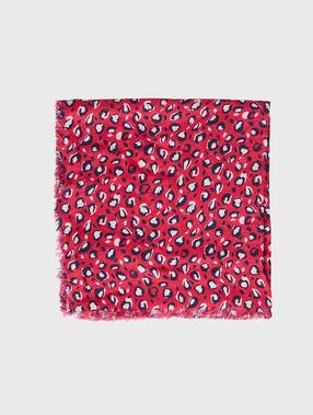 Printed scarf fuchsia.