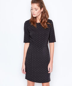 Spotted dress black.