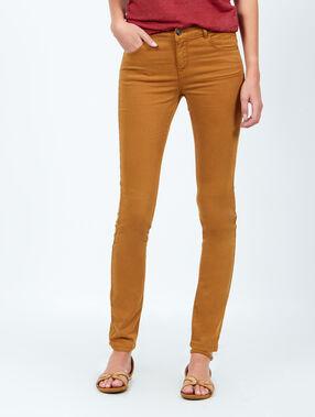 Pantalon skinny ocre.