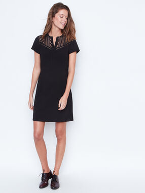 Short sleeve dress black.