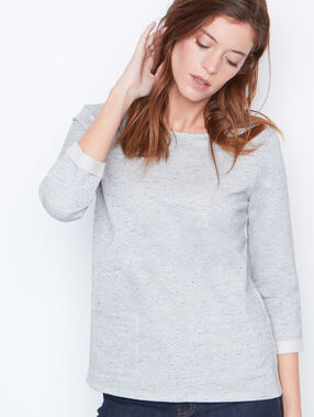 3/4 sleeve top grey.