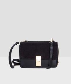 Bolso mini maletín negro.