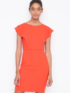 Structured dress orange.