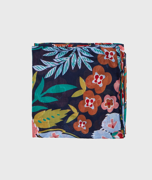 Foulard imprimé tropical