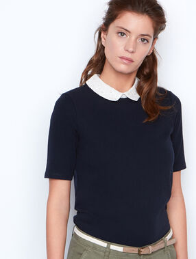 Short sleeves top navy.