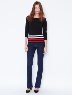 Fine striped sweater black.
