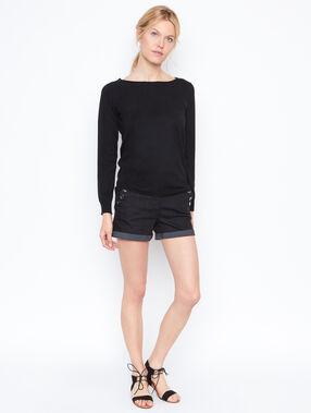 Long sleeves sweater schwarz.