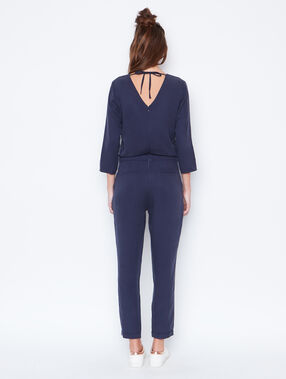 Belted jumpsuit navy.
