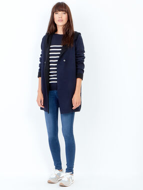 Striped long sleeve sweater purple blue.
