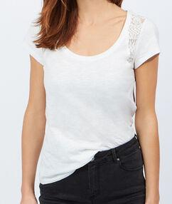 Baumwolle t-shirt weiß.