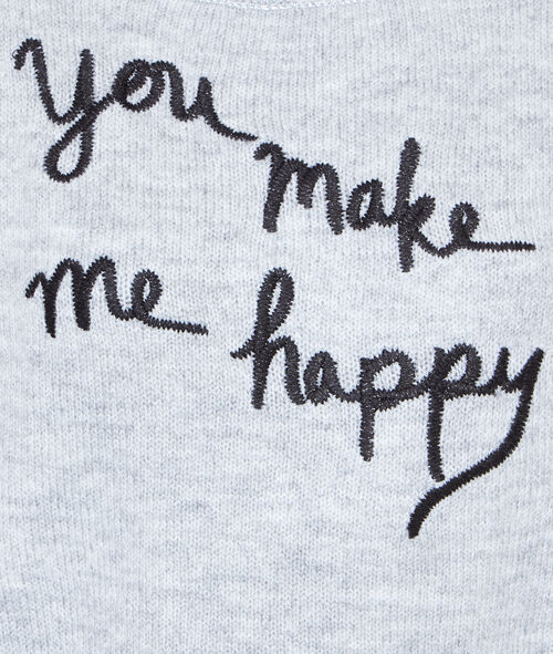 "Knitted jumper ""You make me happy"""