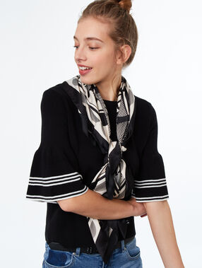 Schal schwarz.