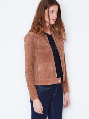 Faux leather jacket brown.