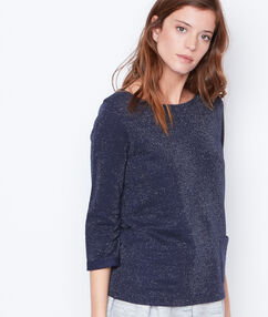 Top with 3/4 sleeves navy.