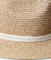 Chapeau de paille, détail tressé