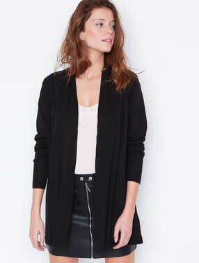 Cardigan with shawl collar black.