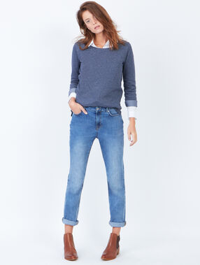 Dotty 3/4 sleeve sweater denim.