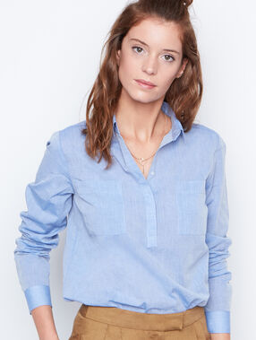Long sleeve shirt blue.