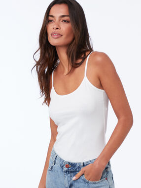 Cotton tank top white.