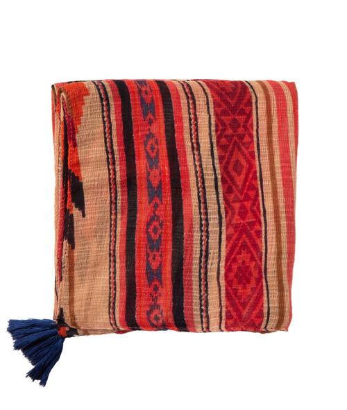 Foulard imprimé aztèque à pompons