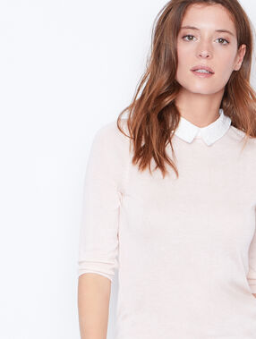 3/4 sleeve top nude.