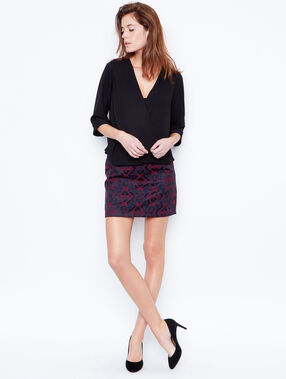 Jacquard skirt purple.