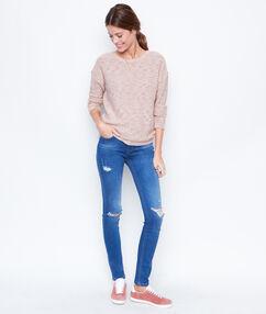 Destroy jeans slim brut.