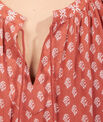 Robe folk imprimée à pompons