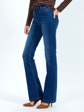 Flare jeans blau.
