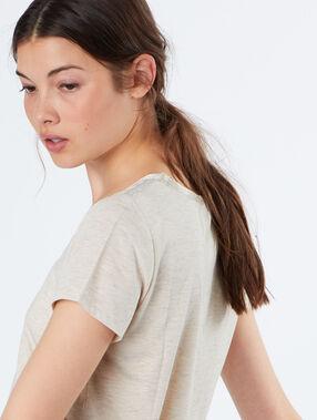 T-shirt beige.