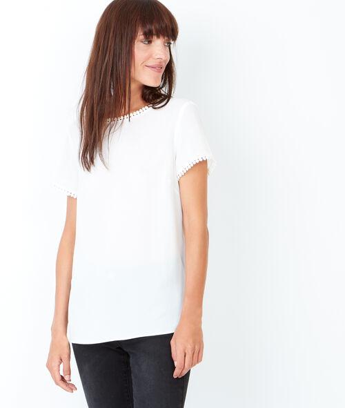 T-shirt à manches courtes, détails petits pompons